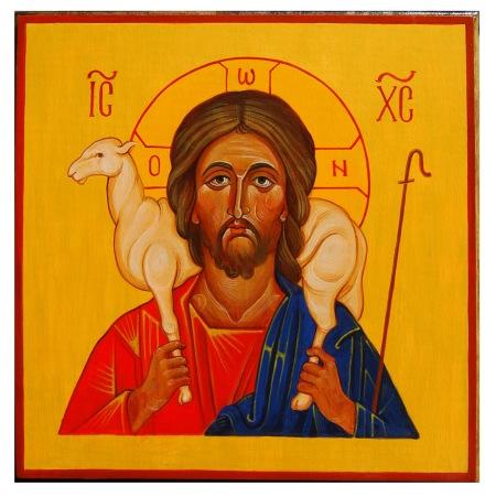 Christ Good Shepherd Icon Orthodox window-into-heaven